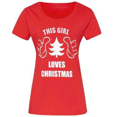 Kerst t-shirt 'this girl loves Christmas'