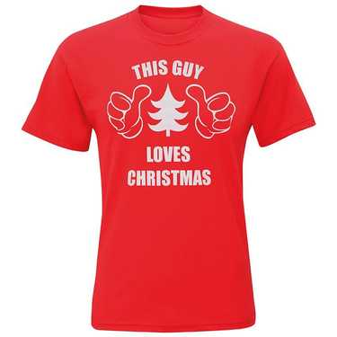 Kerst t-shirt 'this guy loves Christmas'